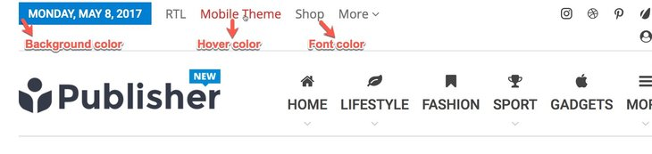 change font, background and hover color in Publisher