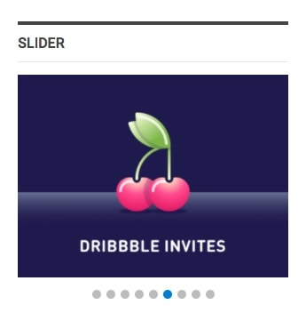 Dribbble widget in Publisher