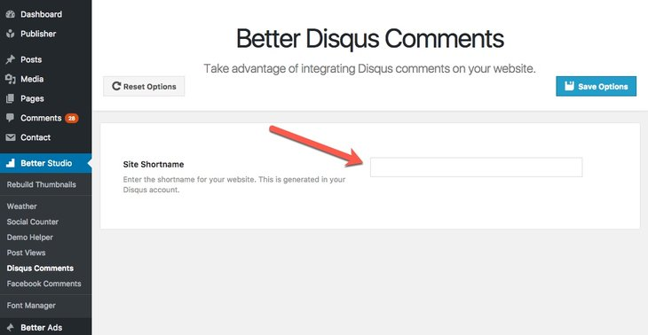 activate Better Disqus comments