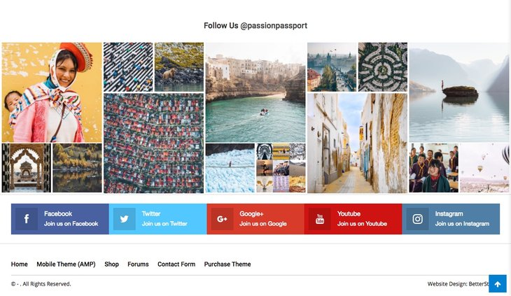 Footer Instagram style 1 in Publisher