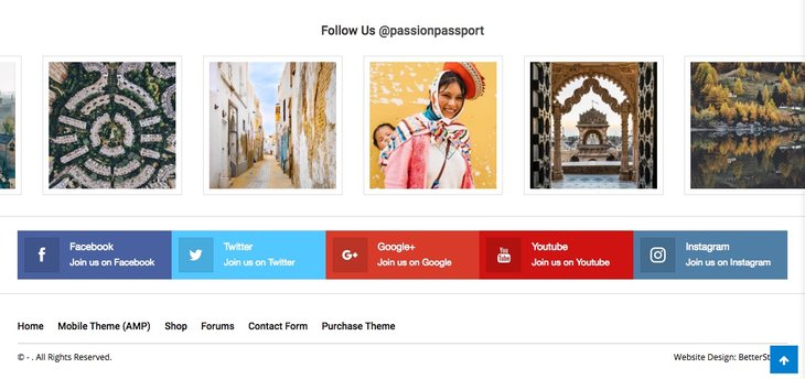 Footer Instagram style 3 in Publisher