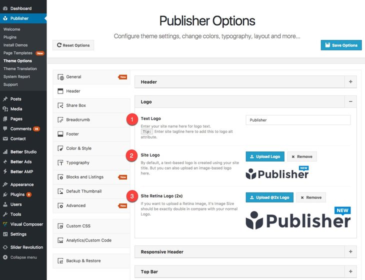 choosing site logo in Publisher