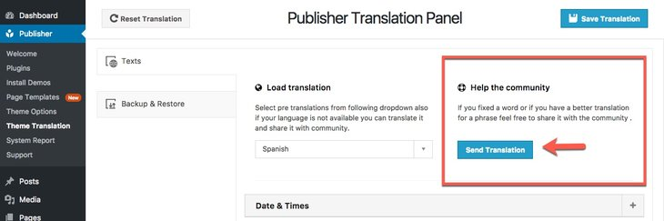Add new translation to Publisher