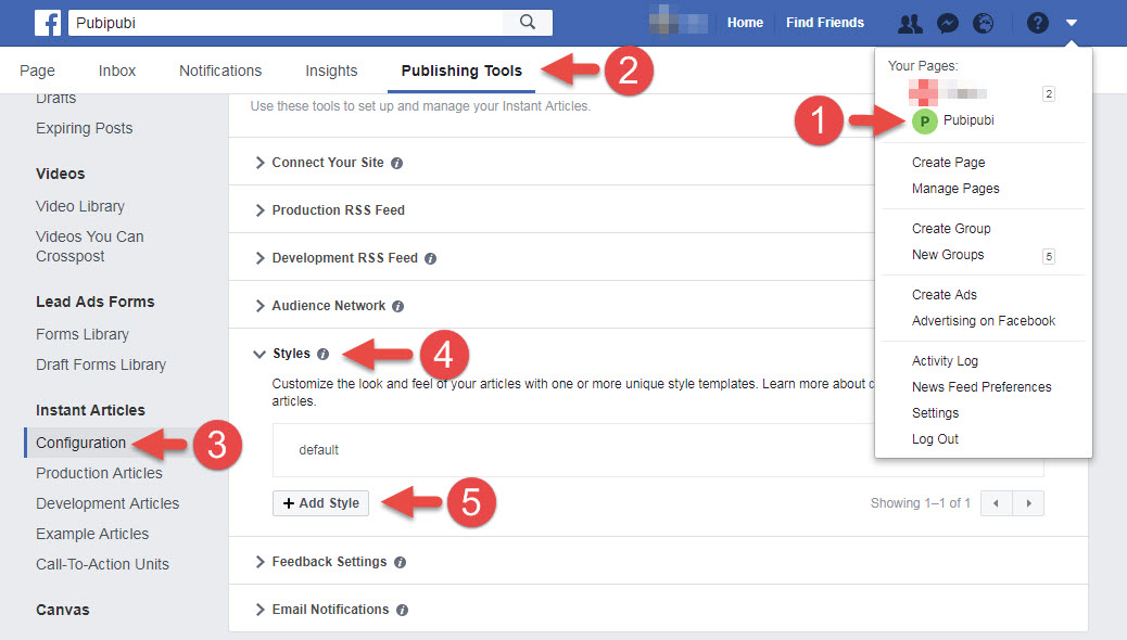 add style for facebook instant article