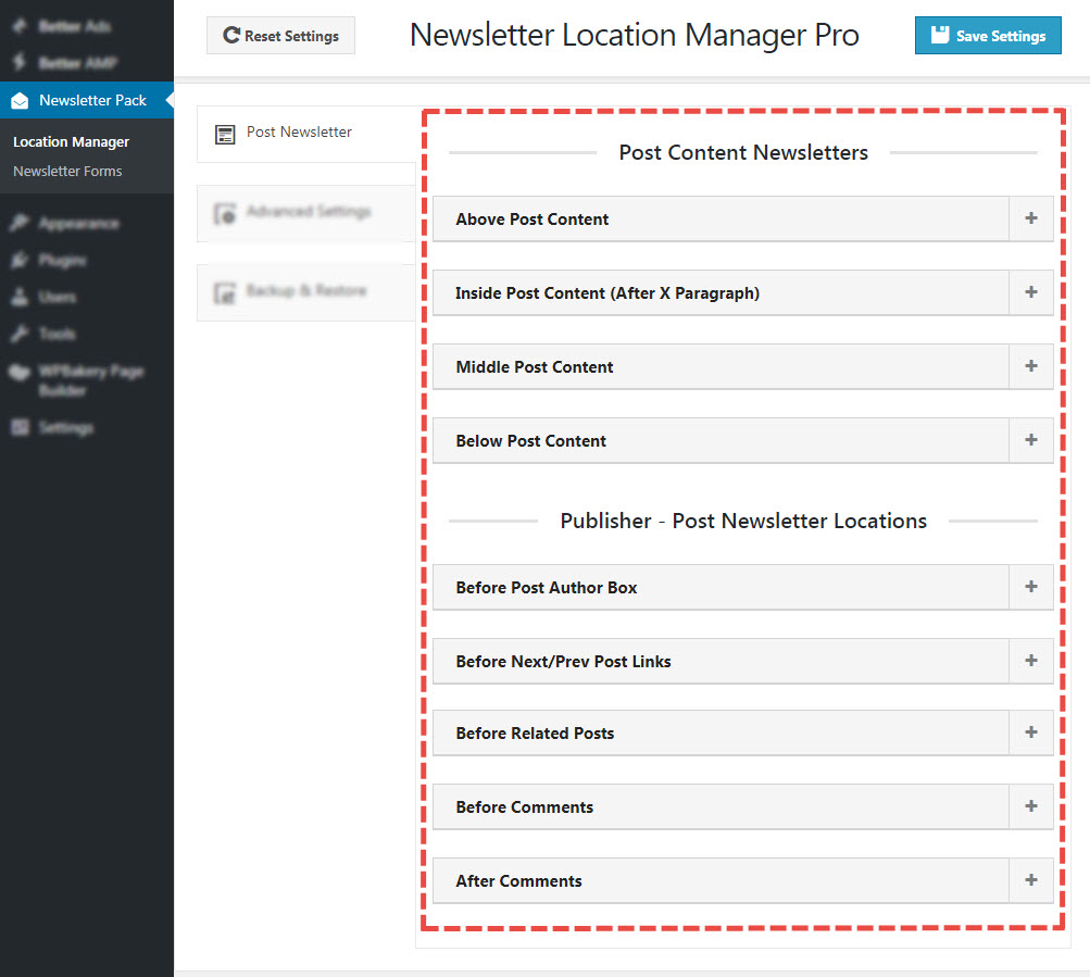 newsletter locations